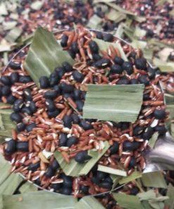 gạo lứt đậu đen đậu đỏ lá nếp